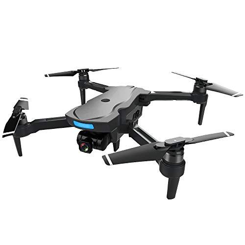 feiXIANG Pieghevole Drone con Telecamera FPV Quadricottero GPS 1080P HD Telecamera Grandangolare modalità di Senza Testa 3D Flips Quadcopter + Zaino (Taglia Unica, Nero)