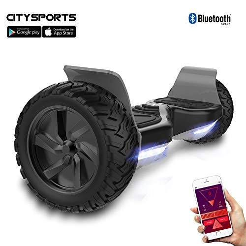 CITYSPORTS Hoverboard Fuoristrada 8.5', Hoverboard Hummer SUV, Bluetooth e App, 700W