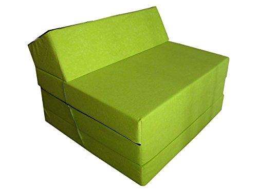 Natalia Spzoo Materasso Pieghevole Lunghezza 200 cm in Diversi Colori Microfibra (Verde 0811229)
