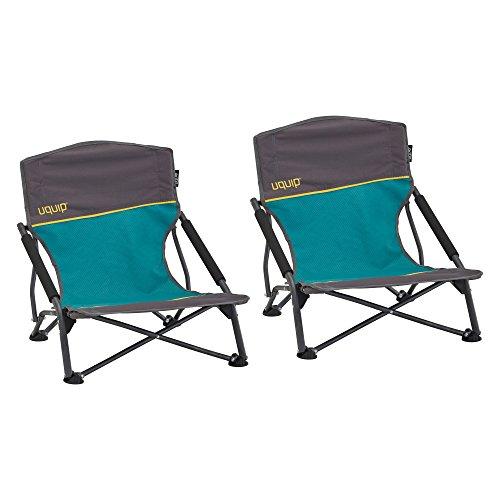 Uquip 2er Set Strandstuhl Sandy - Bequemer Klappstuhl mit Traglast bis 120 kg