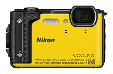 Nikon Coolpix W300 - Cámara compacta de 16 MP (WiFi, Bluetooth, 4K UHD, CMOS, Nikkor, SnapBridge, Videos Time-Lapse, reducción de la vibración, AF, TFT LCD) Amarillo - Kit con mochilla