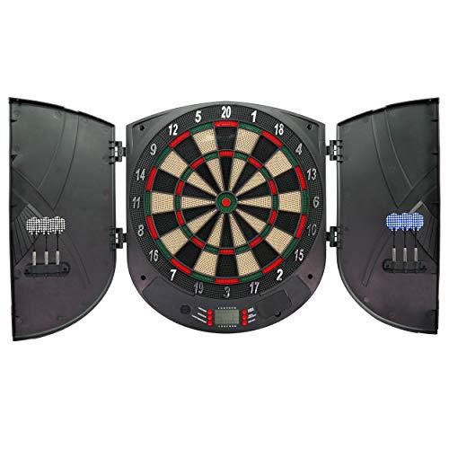 Best Sporting elektrische Dartscheibe LCD Kabinett Brighton Dartboard, schwarz-Bunt, 50