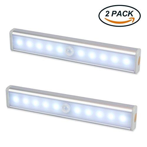 Luce Notte LED ,EMIUP Armadio con Sensore Luce e di Movimento, alimentato a batteria, senza cavi,...