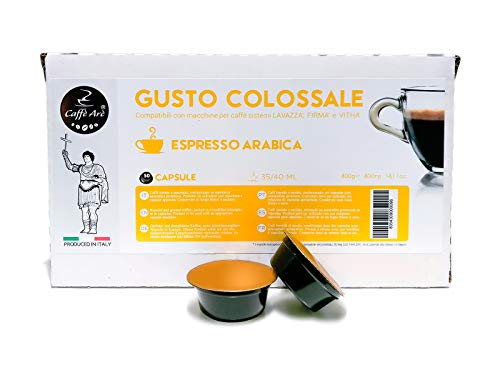 200 CAPSULE CAFFE' ARE' COMPATIBILI LAVAZZA FIRMA E VITHA GROUP 100% ARABICA
