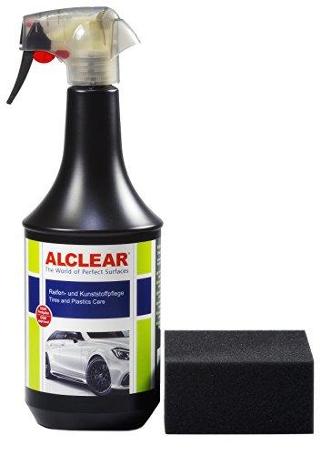 ALCLEAR 721RK seidenmatter Reifenglanz tiefschwarz, Reifenpflege, Kunststoffpflege, Gummipflege, 1.000 ml