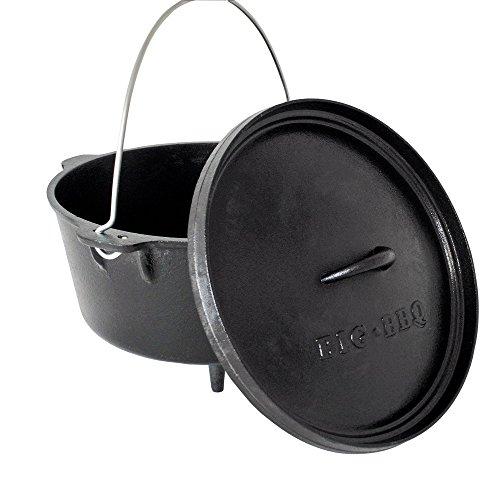 ToCis Big BBQ DO 9 Dutch Oven | 12' Forno olandese in ghisa | pretrattato con olio di soia| con...