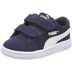 Puma Unisex Baby Smash v2 SD V Inf Sneaker, Blau (Peacoat White), 27 EU