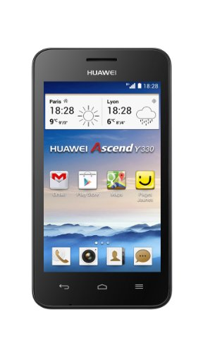 "Huawei Ascend Y330 - Smartphone libre Android (pantalla 4"", cámara 3.15 Mp, 4 GB, Dual-Core 1.3 GHz, 512 MB de RAM), color negro"