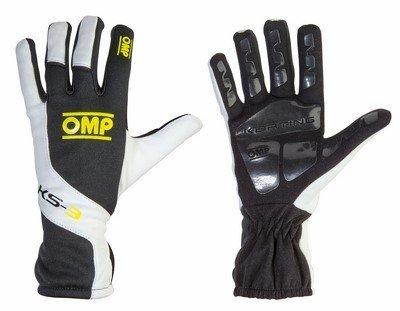 OMP ompkk02743279s KS-3Guanti, Colore: Nero/Bianco/Giallo Fluo, Taglia S
