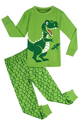 MOMBEBE COSLAND Pijama de Manga Larga para niños Dinosaurio (Dinosaurio 3, 4 años)