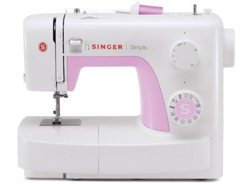 Singer Simple 3223 - Máquina de coser mecánica, 23 puntadas, color blanco