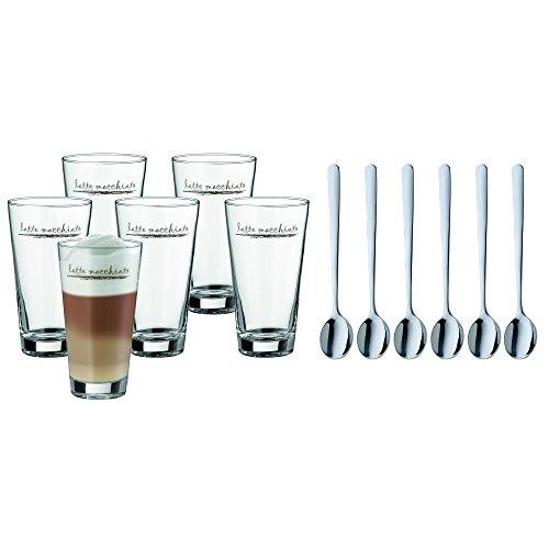 WMF Clever&More Latte Macchiato Set 12-teilig Latte Macchiato Glas mit Löffel, Latte Macchiato...