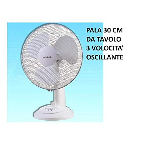 Ventilatore Pala 30 Da Tavolo Larel Oscillante 3 Velocita' Larel