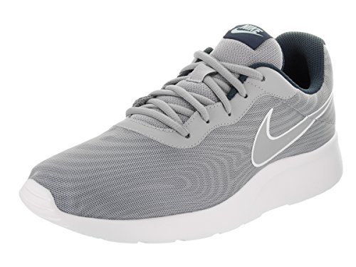 09d0b6a67b0b12 Nike Men s Tanjun Wolf Grey White Sneakers (812654-010) - surplusxstock
