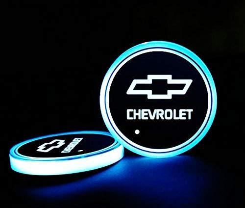 Interesting car Lot de 2 Lampes LED pour Porte-gobelet de Voiture 7 Couleurs changeantes USB Tapis de Charge Luminescent Tampon LED pour int... 26