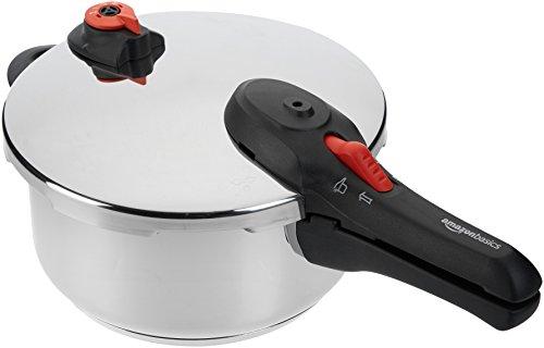 AmazonBasics - Pentola a pressione in acciaio inox, 4 l