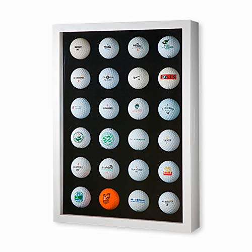 Idea Produkte Golfball-Vitrine Weiß für 24 Golfbälle