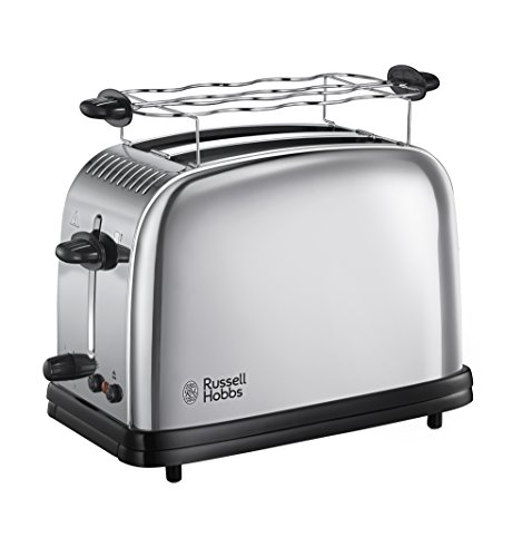 Russell Hobbs 23310-56 Tostapane in Acciaio Chester Funzione Defrost, 1200 W