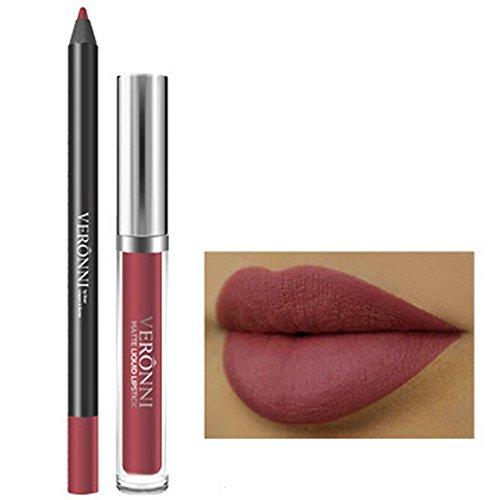 Yanhoo arrossire,Lucidalabbra, Ombretti,Eyeshadow, Lunga Durata Rossetto Impermeabile Opaco Liquido Gloss Lip Liner Cosmetici Set (A)