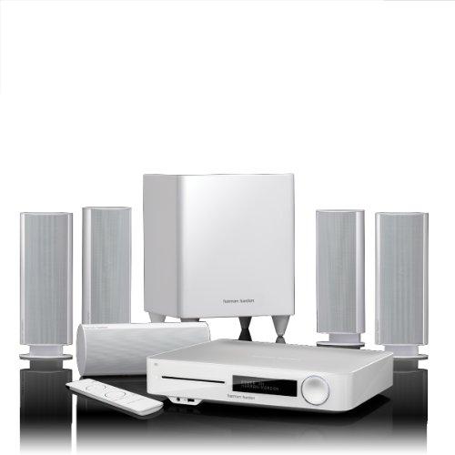 Harman/Kardon HARBDS7773W - Sistema home theatre Blu-ray 5.1 3D, subwoofer 200 Watt, bluetooth, HDMI