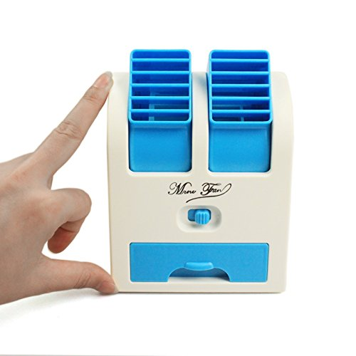 Numex NU063 Mini Small Fan Cooling Portable Desktop Dual Bladeless Air Conditioner USB