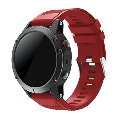 TOPsic Garmin Fenix 5 Cinturino, Braccialetto Morbido di Ricambio in Silicone per Garmin Fenix 5 / forerunner 935 Smart Watch (NON per Fenix 5X o 5S)