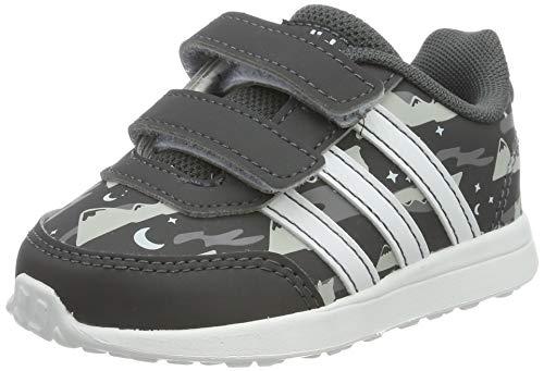 adidas Vs Switch 2 Cmf Inf, Pantofole Unisex-Bimbi, Multicolore (Grisei/Ftwbla/Aeroaz 000), 21 EU
