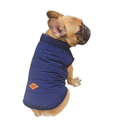 Rantow Animale domestico Cappotto giacca foderato in pile per cani Cucciolo Bottoni invernali...