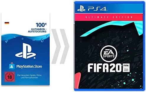 100€ PSN Guthaben-Aufladung für FIFA 20 - Ultimate Edition [PS4 Download Code - deutsches Konto] - Ultimate Edition Edition | PS4 Download Code - deutsches Konto
