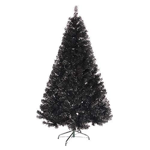 SSRSHDZW Albero di Natale Albero di Natale Artificiale con Staffa Metallica di Natale Decorazioni per La Casa Centro Commerciale Decorazione 150 Centimetri Nero