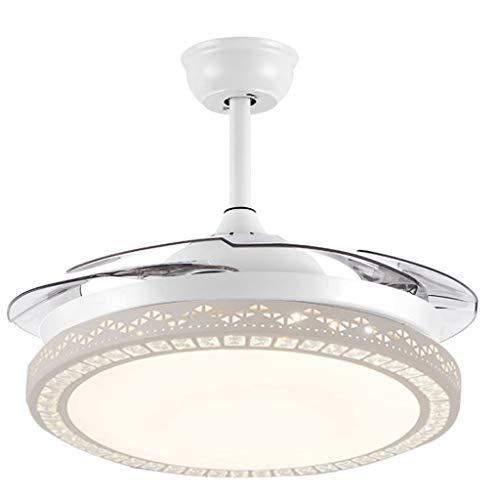 Ventilatore da soffitto Telecomando retrattili Lame 42 Pollici Moderna Ventilatore a soffitto Luce...