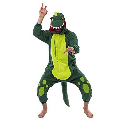 Spooktacular Creations Unisex Mono Disfraz de Dinosaurio para Adulto Pijama (M)