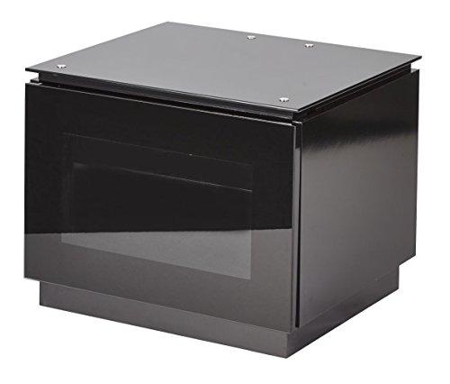MMT C550 Mobile per TV nero lucido, con anta in vetro a trasmissione di infrarossi, per schermi...