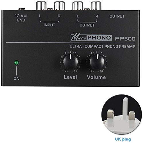 Dengofng PP500 Ultra-Compatto Preamplificatore Fono Preamplificatore con Livella & Controlli Volume...