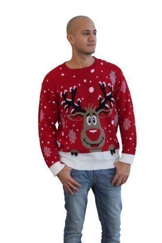 CelebLook Hombre Vintage Reno De Navidad Suéter cuello redondo ... 60545ebec64c