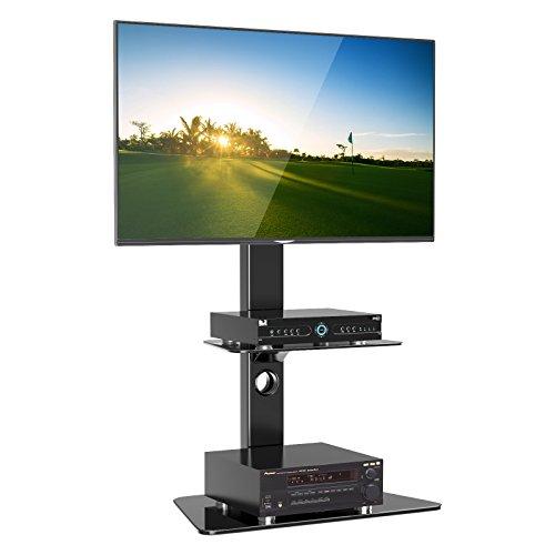 1home Supporto Cantilever in Vetro per Televisione con Staffa Girevole per 27'-55' Plasma, LCD, LED,...