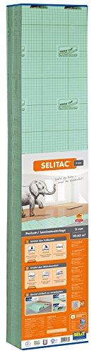 Selitac - Materassino isolante per parquet e formica, 3 mm