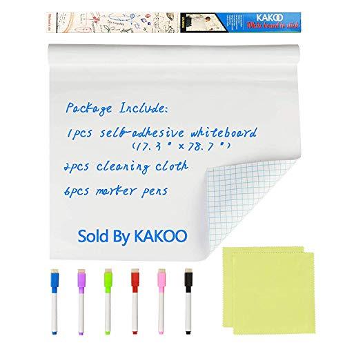 KAKOO Lavagna adesiva Lavagna autoadesiva Cartella dimensioni regolabile Adesivo per l'Home Office...