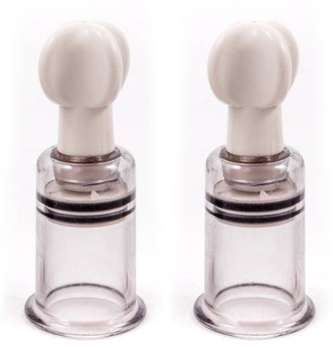 Nippelsauger Brustpumpe Bruststimulation mit EXTREM Saugkraft Brustwarzen Vergrößerung und Klitoris Sucker by DEVOTION, Größe M 31 mm
