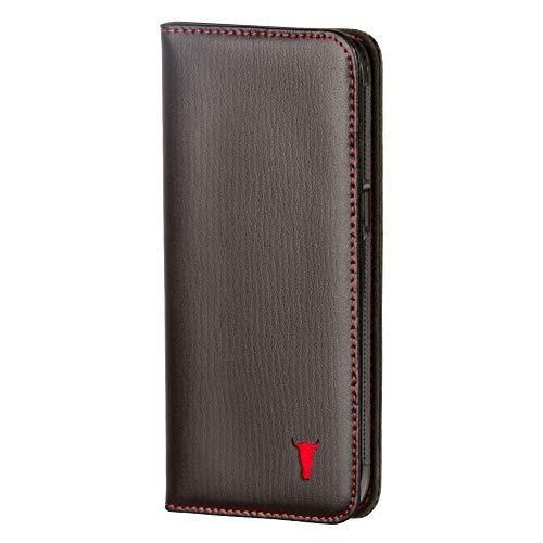 TORRO Hülle kompatibel mit Galaxy S8. Ledertasche/Handyhülle aus echtem Leder mit Standfunktion und Bargeld- / Visitenkartenslot, Schwarz für Samsung Galaxy S8