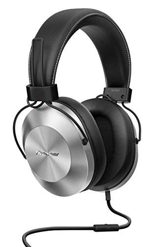 Pioneer SE-MS5T-S - Auriculares de tipo diadema (HiRes, power bass, micrófono, control de Smartphone), colo Plateado