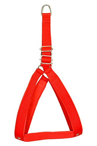 VIP COLLECTION Strong Nylon Everyday Dog Harness Set Color- Red Medium