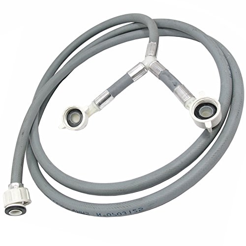 Spares2go y fill universale 2.5m lungo lavatrice doppio tubo di ingresso