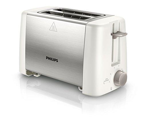Philips Daily Collection HD4825/00 tostapane 2 fetta/e Acciaio inossidabile, Bianco 800 W