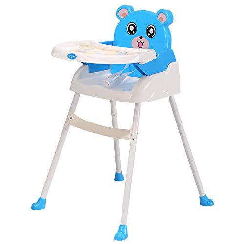 R-CHAIR Seggiolone per Bambini,4 in 1 Seggiolone Salvaspazio, Seggioloni per Bambini, Seggiolino Portatile con Cinghie Regolabili per Cintura da Interno/Esterno,Blue