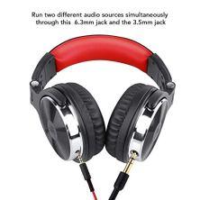 oneodio-DJ-Auriculares-Studio-Auriculares-Over-In-Ear-Headset-con-micrfono-adaptador-libre-de-cerrado-Headphone-63-mm-35-mm-90--giratoria-Carcasa-50-mm-unidadProtena-piel-orejeras