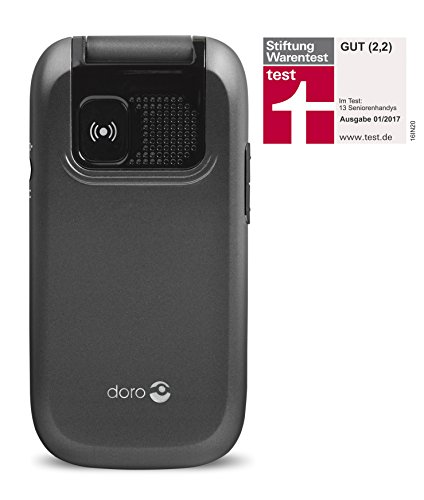 Doro PhoneEasy 613 Téléphone Portable à Rabat au Design élégant avec Appareil Photo 2MP, écran et Touches Larges, Bouton d'appel d'urgence 10