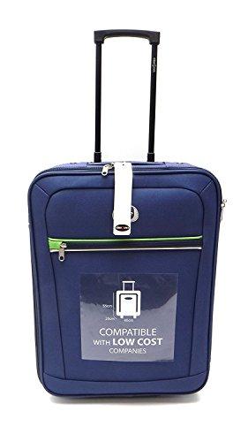 Trolley Clacson cm. 55 x 40 x 20 Bagaglio a mano Semirigido Impermeabile Idoneo Low Cost Ryanair,Blu