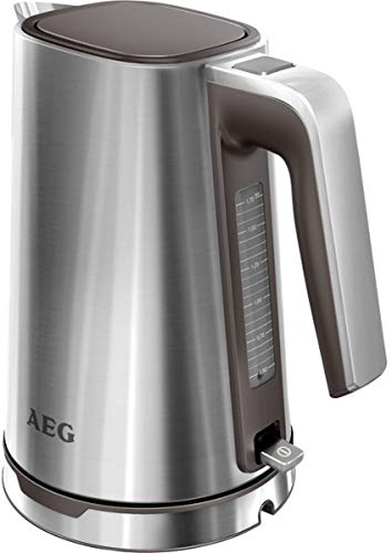 AEG EWA7300 Wasserkocher PremiumLine 7 Series EWA 7300, 3000 W, 1,7 L, Wasserstandsanzeige, Einhand-Deckelöffnung, edelstahl