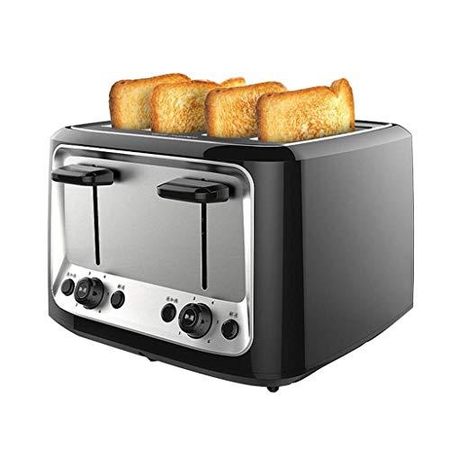 FMIYF 4 Slice Toaster, compatto Pane Toasters con 6 impostazioni Browning, sfilare Crumb vassoio,...